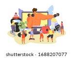 online fitness vector... | Shutterstock .eps vector #1688207077