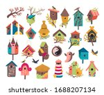 Decorative Bird House Vector...