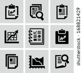 business report document icon | Shutterstock .eps vector #168821429