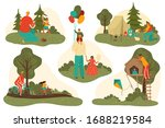 father or dad and child having... | Shutterstock .eps vector #1688219584