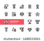 awards vector line icons.... | Shutterstock .eps vector #1688223061