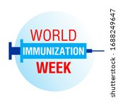 world immunization week.... | Shutterstock .eps vector #1688249647