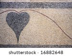 A Heart Designed With Stones O...