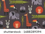 vector seamless pattern with... | Shutterstock .eps vector #1688289394