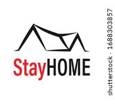 stay at home logo icon vector...   Shutterstock .eps vector #1688303857