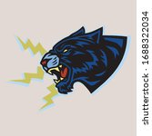 jaguar black tiger roar vintage ...   Shutterstock .eps vector #1688322034