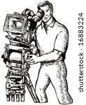 cameraman at work | Shutterstock . vector #16883224