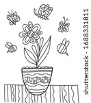 Coloring Book With Flower....