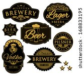 vintage illustration of beer... | Shutterstock .eps vector #168833195
