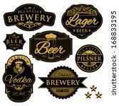 vintage illustration of beer... | Shutterstock .eps vector #168833195