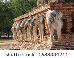 Sukhothai   Statue Of Elephants ...