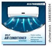 split air conditioner system...   Shutterstock .eps vector #1688338354
