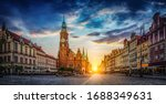 Wroclaw Market Square With Town ...