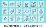water line icon set on theme... | Shutterstock .eps vector #1688354944