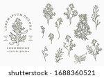 black flower logo collection... | Shutterstock .eps vector #1688360521