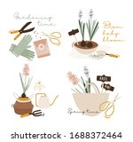 hello spring time. balcony...   Shutterstock .eps vector #1688372464