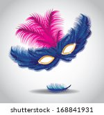 feathered mask. eps 10 vector ... | Shutterstock .eps vector #168841931