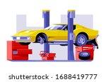 car checking service vector...   Shutterstock .eps vector #1688419777
