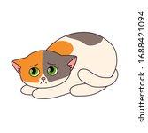 vector illustration of a cute... | Shutterstock .eps vector #1688421094