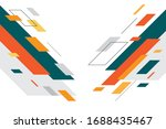 colorful geometric abstract... | Shutterstock .eps vector #1688435467