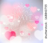 happy valentine's day card with ... | Shutterstock .eps vector #168843755