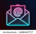 glowing neon line mail and e...   Shutterstock .eps vector #1688442727