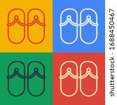 Pop Art Line Flip Flops Icon...