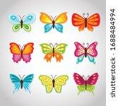 butterflies. cute butterflies... | Shutterstock .eps vector #1688484994