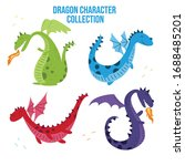 cartoon dragon vector cute... | Shutterstock .eps vector #1688485201