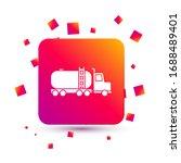 white tanker truck icon... | Shutterstock .eps vector #1688489401
