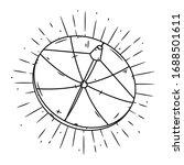 satellite dish. hand drawn... | Shutterstock .eps vector #1688501611