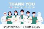 thank you doctor and nurses and ... | Shutterstock .eps vector #1688513107