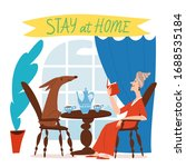 stay at home and be safe for...   Shutterstock .eps vector #1688535184