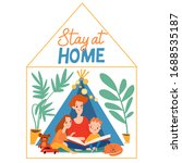 family isolation stay at home...   Shutterstock .eps vector #1688535187