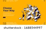 choose your way isometric... | Shutterstock .eps vector #1688544997