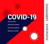 covid 19 coronavirus concept... | Shutterstock .eps vector #1688549041