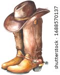 Cowboy Boot With Western Hat....