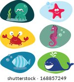 cute sea creatures | Shutterstock . vector #168857249