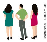 isolated  flat style people are ... | Shutterstock .eps vector #1688574331