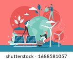micro characters watering plant ... | Shutterstock .eps vector #1688581057