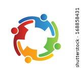 teamwork embrace 4 | Shutterstock .eps vector #168858431