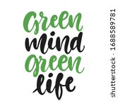 green mind  green life poster.... | Shutterstock .eps vector #1688589781