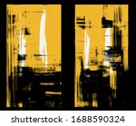 windows in yellow and black ... | Shutterstock .eps vector #1688590324