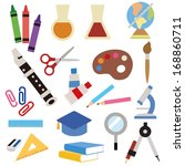 stationery icon | Shutterstock .eps vector #168860711