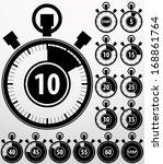 analog timer icons set  vector...   Shutterstock .eps vector #168861764