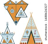 geometric style of pictures ... | Shutterstock .eps vector #1688626327