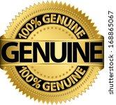 genuine gold label  vector... | Shutterstock .eps vector #168865067