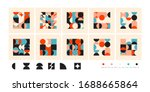 abstract vector shapes... | Shutterstock .eps vector #1688665864