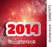 happy new year | Shutterstock .eps vector #168867071
