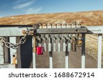 Padlocks On A Gate Of The...